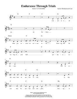 Songs of Scripture - James 1 2-4 (NASB).
