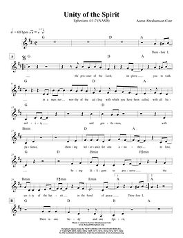Songs of Scripture - Ephesians 4 1-7 (NA