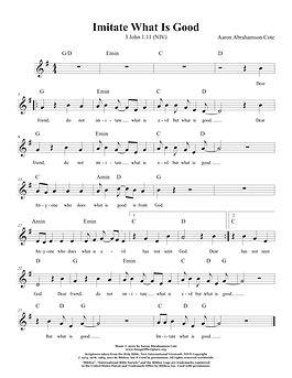 Songs of Scripture - 3 John 1 11 (NIV) I