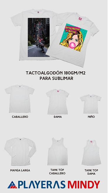 Tactoalgodon Mindy premium sublimable