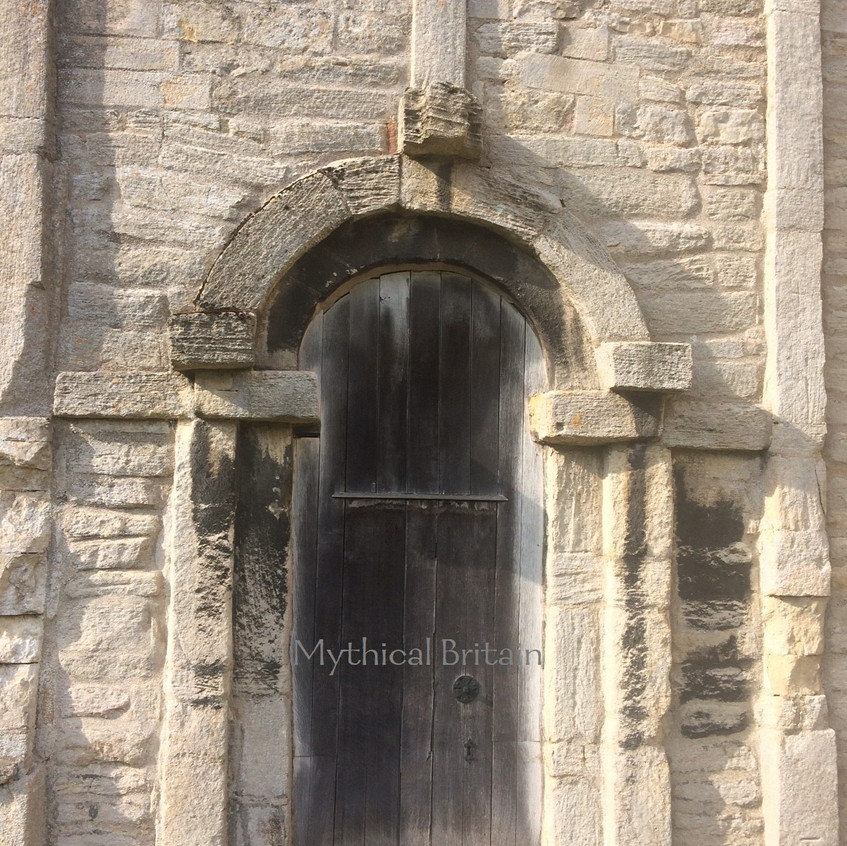 Door to church tower at Barnack