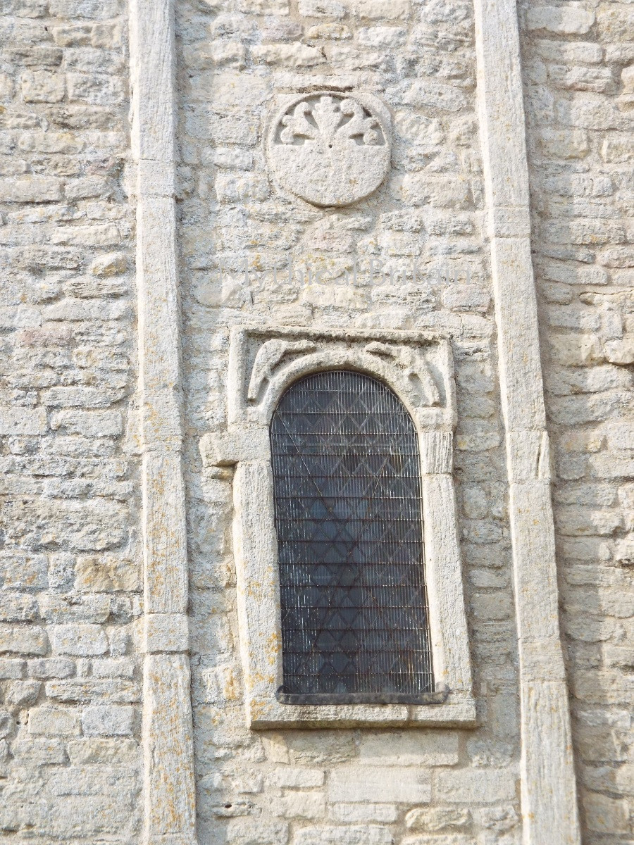 Image of Saxon sundial at Barnack church, Cambridgeshire