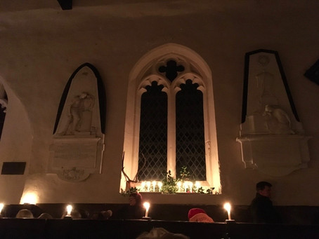 Sir Gawain and the Green Knight illuminates St James' Church