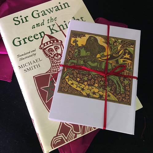 Sir Gawain and the Green Knight - Signed Book and Cards