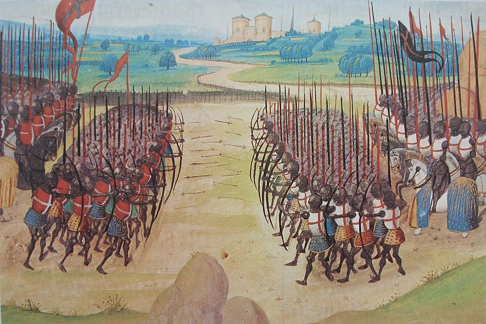 Image of the Battle of Agincourt from a contemporary manuscript