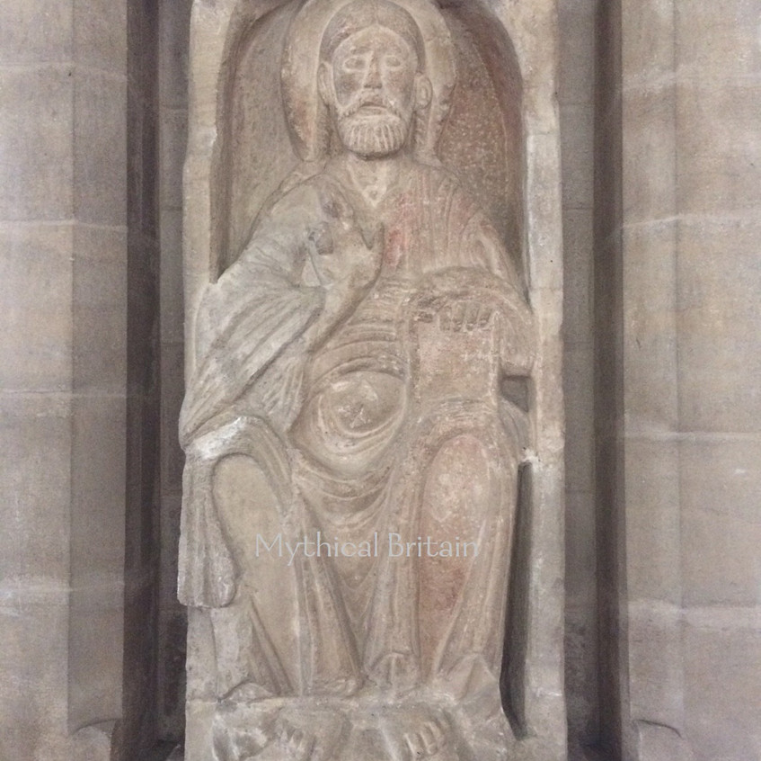 Romanesque Christ in Majesty at Barnack