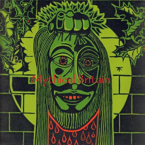 The Challenge of the Green Knight - Original Linocut Print
