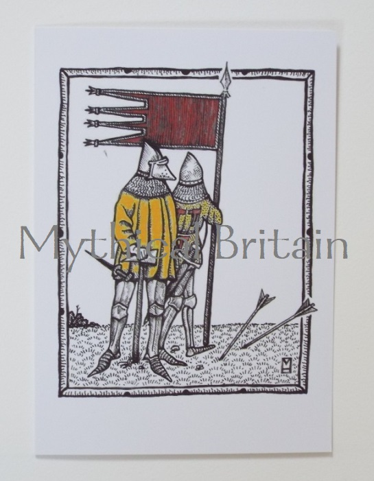 Agincourt Greetings Cards - Oriflamme
