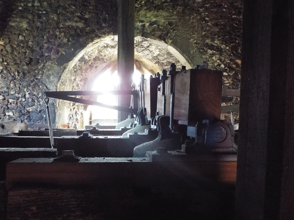 Image of bells in bell chamber at St James Stanstead Abbotts Hertfordshire