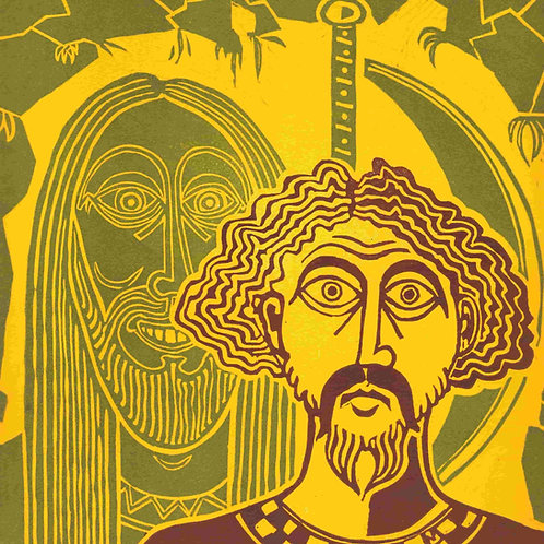 In the Green Chapel - Original Linocut Print