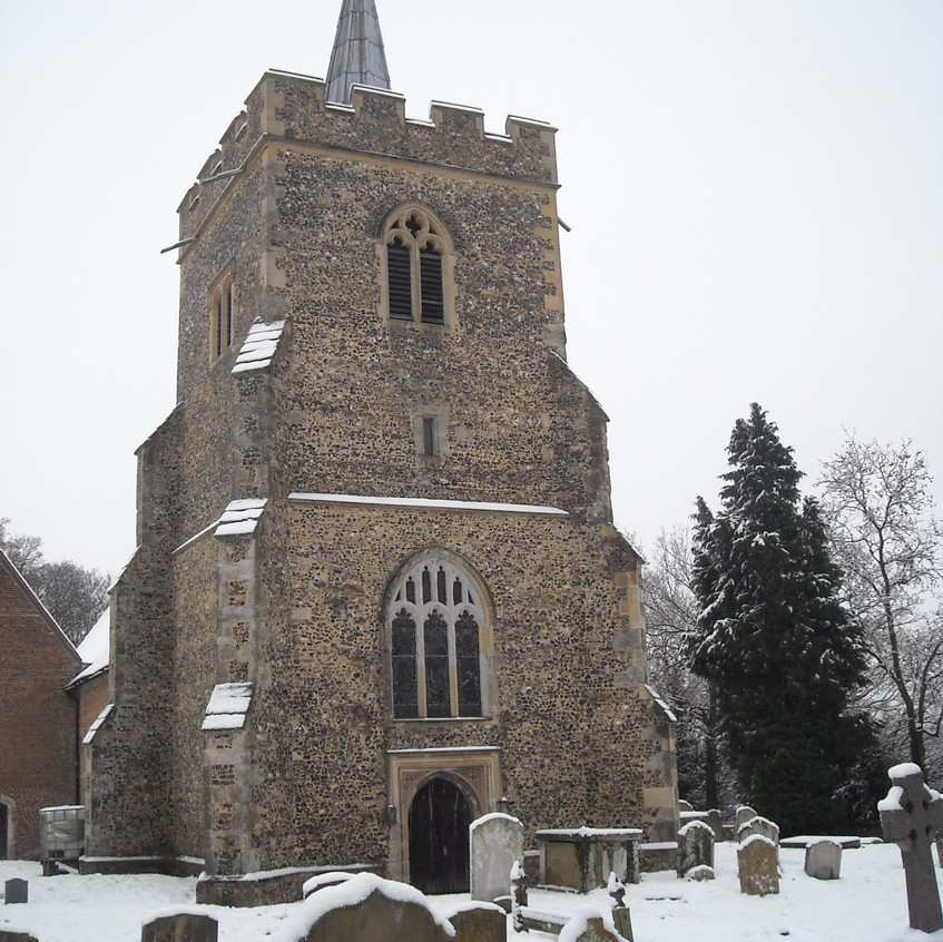 St James Church in Snow