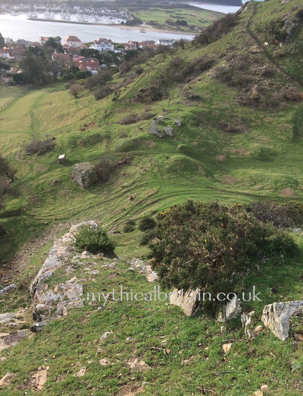 Degannwy - view towards the gatehous