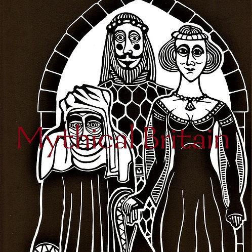 The Residents of Hautdesert - Original Linocut Print
