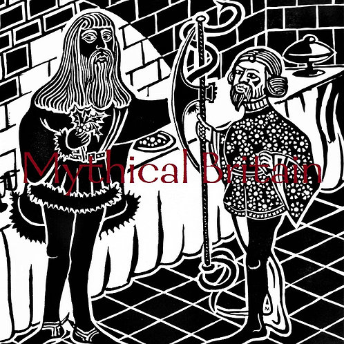 Sir Gawain receives the Axe - Original Linocut Print