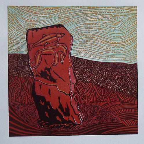 The Craw Stane - Original Linocut Print