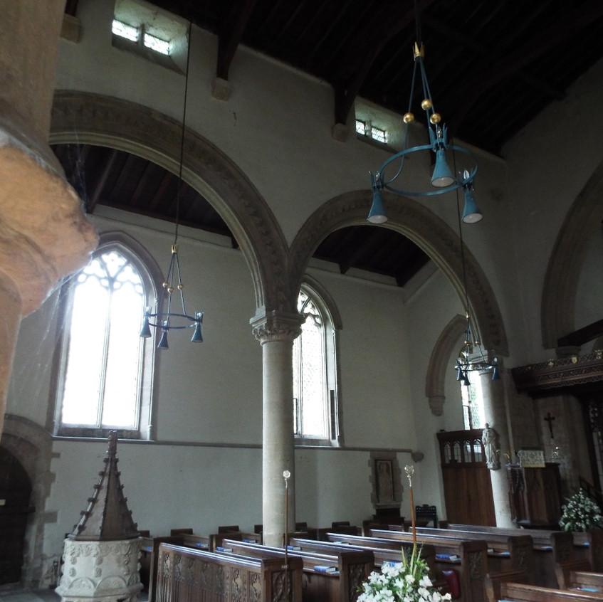 General view of the nave at Barnack chur