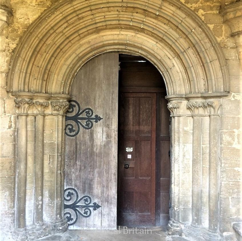 Twelfth Century doorway at Barnack