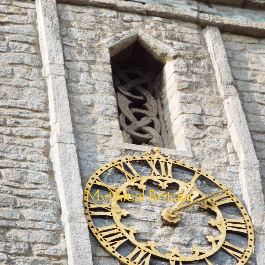 Lattice work decoration on Saxon tower a