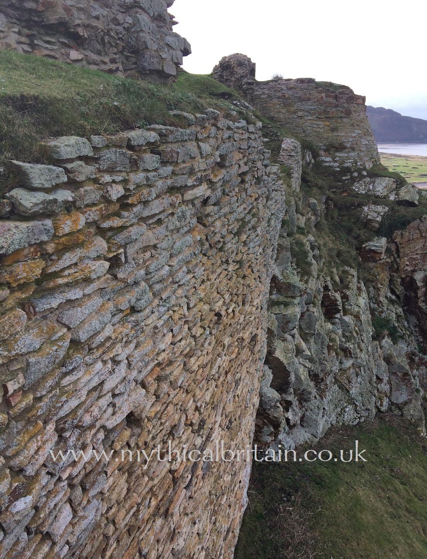 Revetment, Degannwy Castle