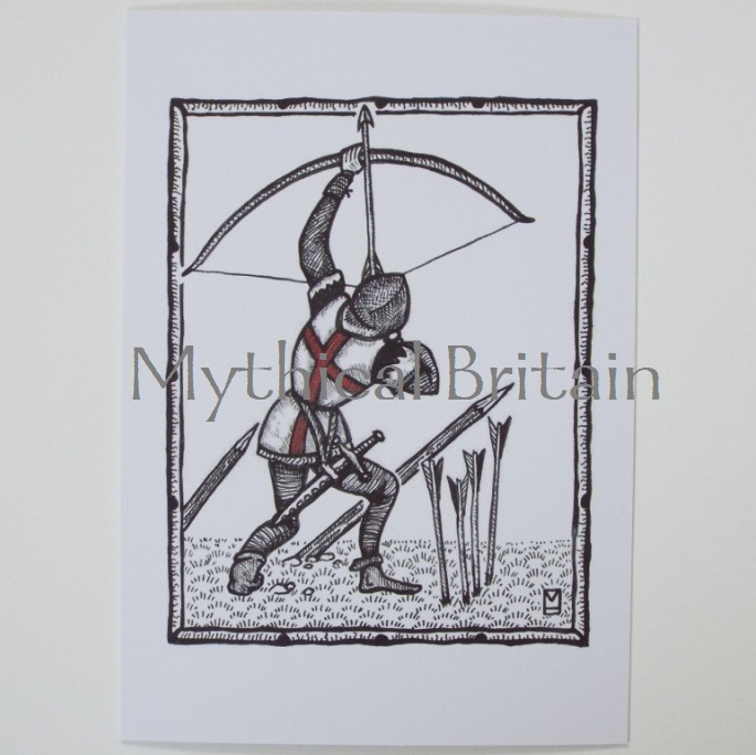 Agincourt Greetings Cards - Archer Volle