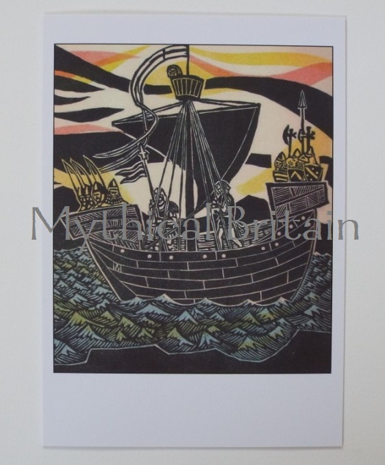 Agincourt Greetings Cards - English Ship