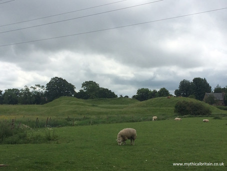 The motorway motte - Lilbourne castle and mediaeval village, Northamptonshire