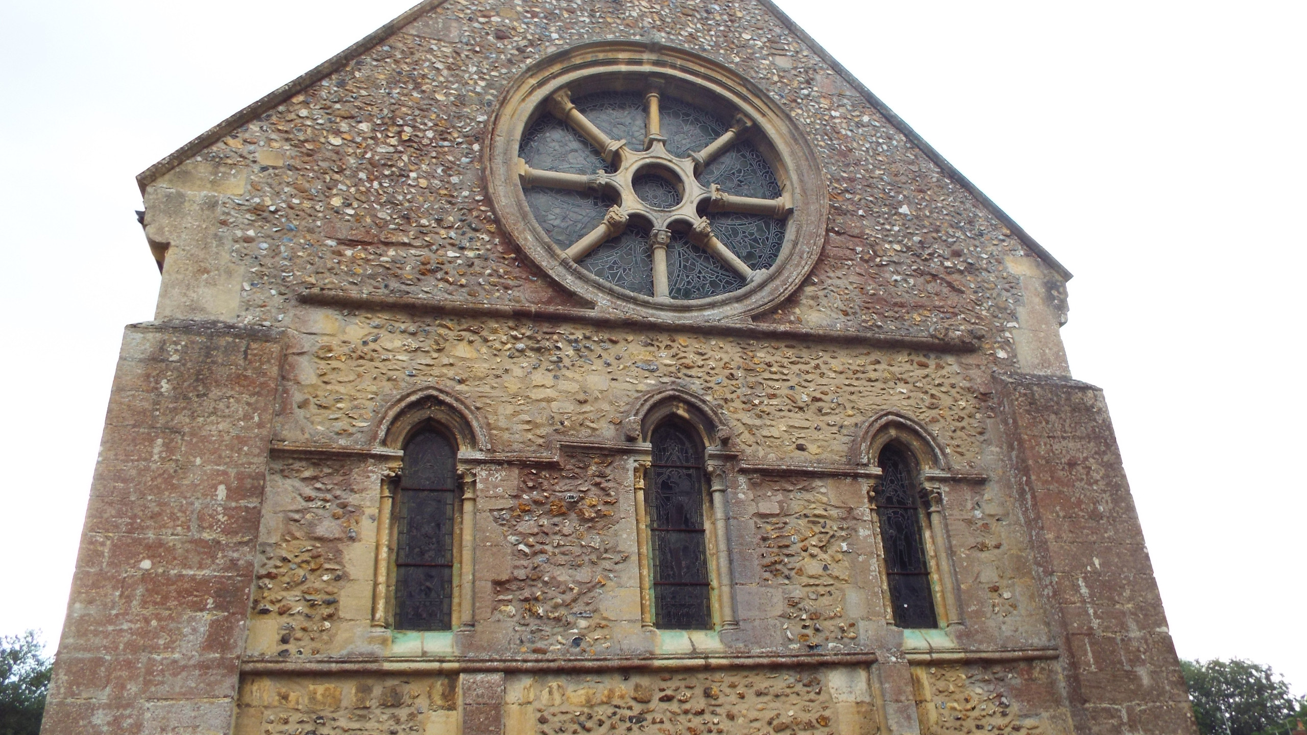 The Wheel Window at  St Nicholas, Castle Hedingham