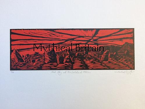 Castlerigg Stone Circle - Original Linocut Print