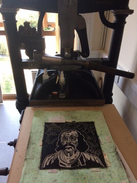 On the printing press