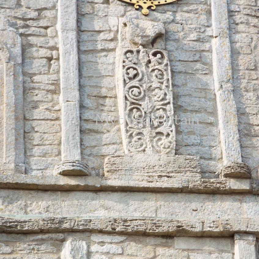 Decoration on Saxon tower at Barnack