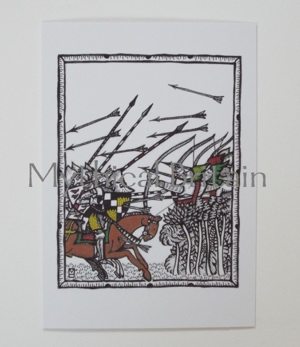 Agincourt Greetings Cards - Flank Attack