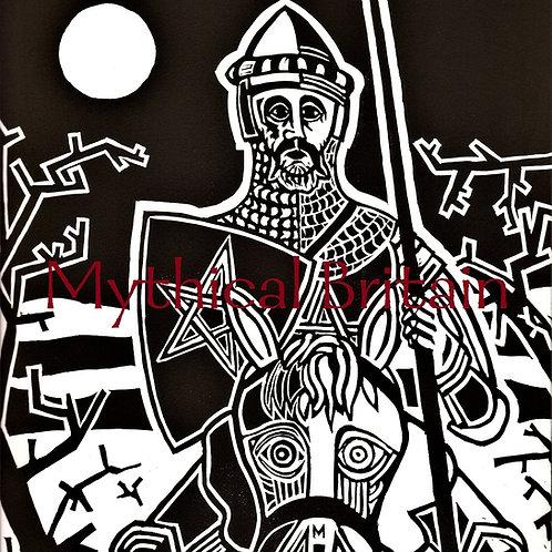 The Journey of Gawain - Original Linocut Print