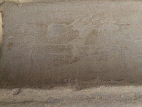 Medieval Graffiti discovered at St James', Stanstead Abbotts