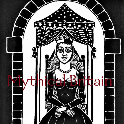 Queen Guinevere - Original Linocut Print
