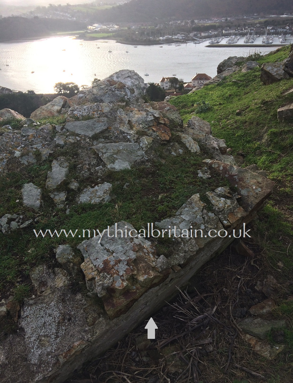 Plasterwork, Degannwy Castle
