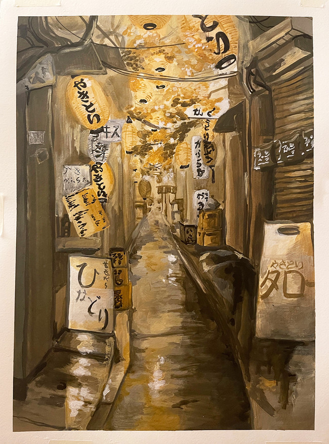 Monochromatic Painting with Yellow Ochre