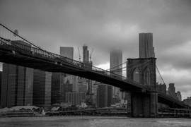 B/W Brooklyn Bridge