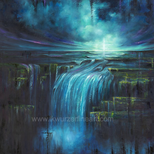 """A Calm in the Storm"" Original Oil Painting"