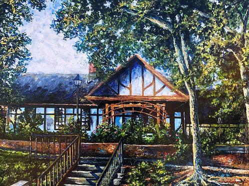 """""""Wayzata Depot"""" Original Acrylic Painting"""