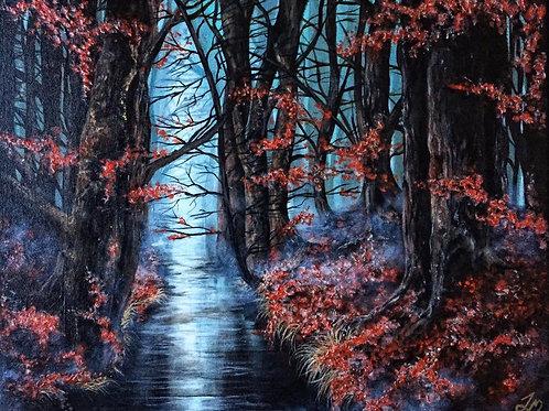 """""""Lumos"""" Original Acrylic Painting"""