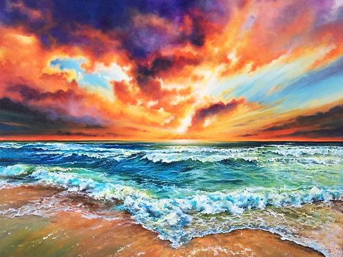 """Firesky"" Original Acrylic Painting"