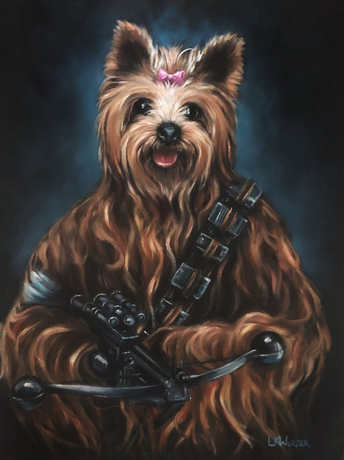 """Chewbarka"" Original Oil Painting"