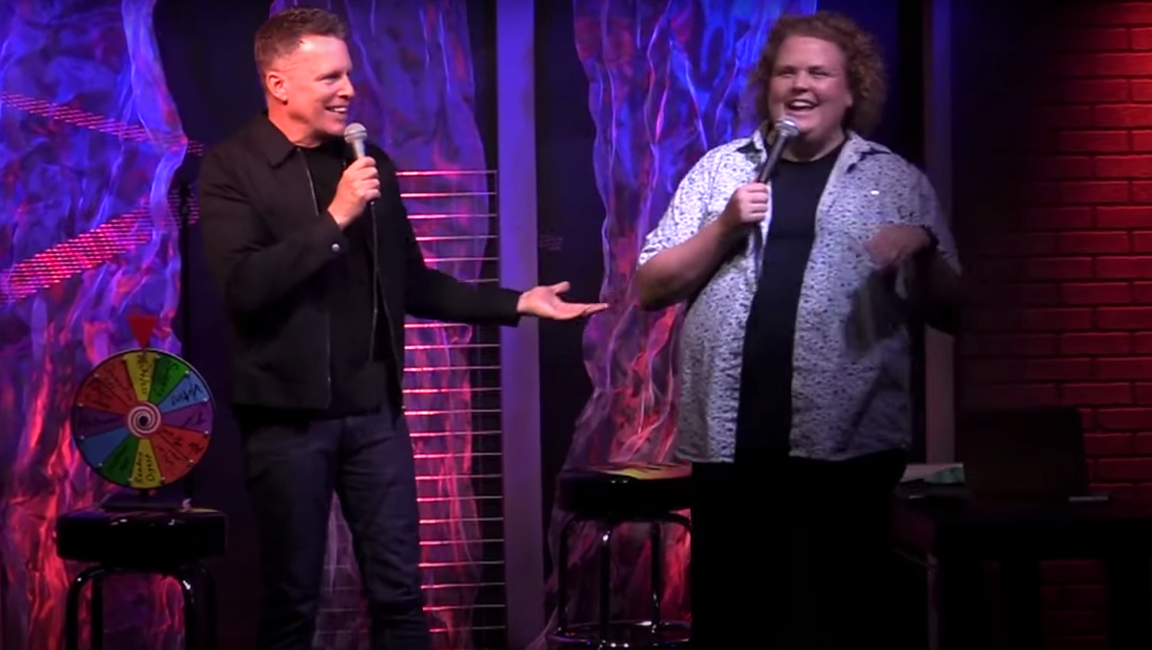 Fortune Feimster and Chris Franjola