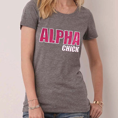 Alpha Chick - Light Grey Tee