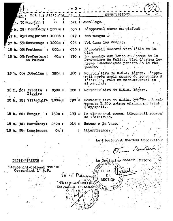 Suite du Compte rendu de la mission du 24 août 1944 sur la préfecture de Paris.