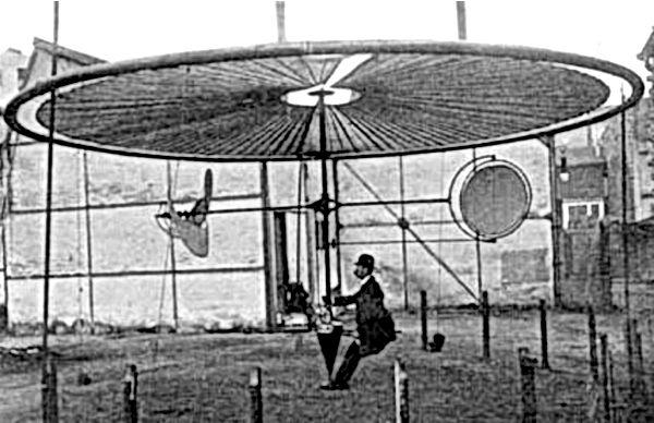 Henri Villard et son aéroplane à champ tournant : 12 cv pour soulever 320 kg