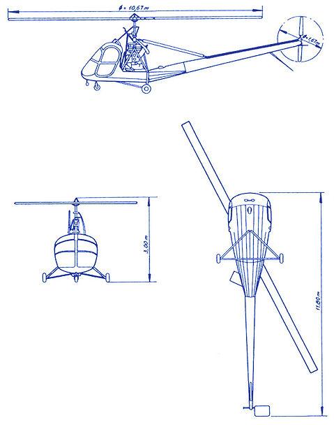 Plan 3 vues Hiller 360