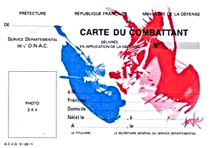 Carte du combattant ONAC.
