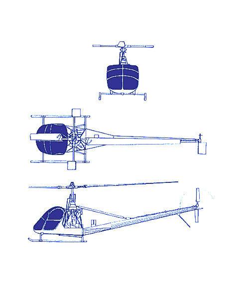 Plan 3 vues UH-12