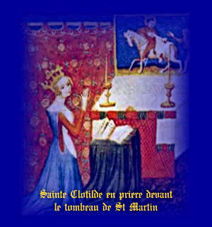 Ste Clotilde au couvent de St Martin à Tours.